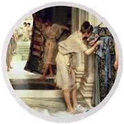 The Frigidarium Round Beach Towel by Sir Lawrence Alma-Tadema