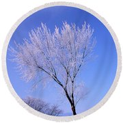 The Frost Like Ashes Round Beach Towel