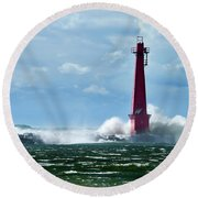 The Gale Of October Round Beach Towel