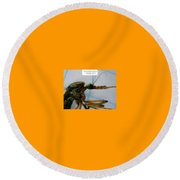 The Gallon Nipper Round Beach Towel