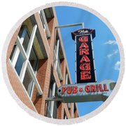 The Garage Pub Round Beach Towel