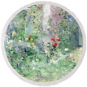 The Garden At Bougival Round Beach Towel by Berthe Morisot