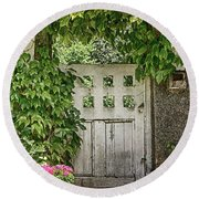 The Garden Door - V Round Beach Towel
