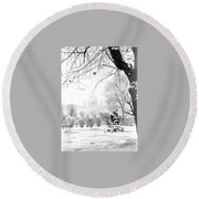 The Garden Round Beach Towel