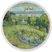 The Garden Of Daubigny Round Beach Towel