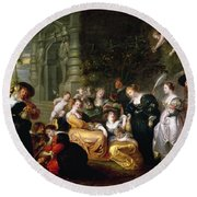 The Garden Of Love Round Beach Towel by Peter Paul Rubens