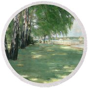 The Garden Of The Artist In Wannsee Round Beach Towel