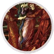 The Garden Of The Heserides 1877 Round Beach Towel