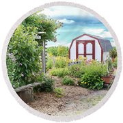 The Garden Shed Round Beach Towel