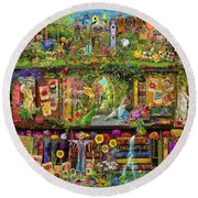 The Garden Shelf Round Beach Towel