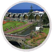 The Gardens Of Ribeira Grande Round Beach Towel