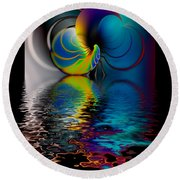 The Gate Across The Water Round Beach Towel