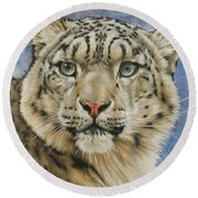 The Gaze Round Beach Towel