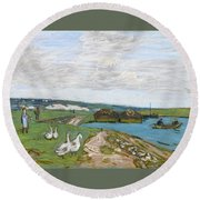 The Geese Round Beach Towel