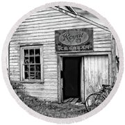 The General Store Bw Round Beach Towel