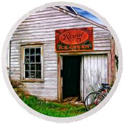 The General Store Painted Round Beach Towel
