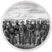 The Generals Of The Confederate Army Round Beach Towel