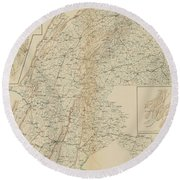 The Gettysburg Campaign - American Civil War Round Beach Towel