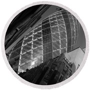 The Gherkin Black And White Round Beach Towel