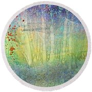 The Ghost Forest Round Beach Towel