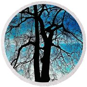 The Ghostly Tree Round Beach Towel