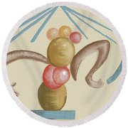 The Gift Of Life Round Beach Towel