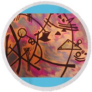 The Ghilotine Round Beach Towel