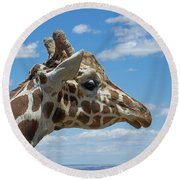 The Giraffe Round Beach Towel