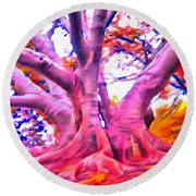 The Giving Tree 3 Round Beach Towel