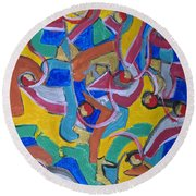 The God Particle Round Beach Towel
