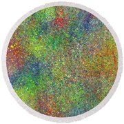 The God Particles #543 Round Beach Towel