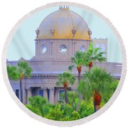 The Gold Dome Round Beach Towel
