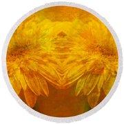 The Gold Mirror Round Beach Towel