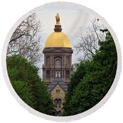 The Golden Dome Round Beach Towel