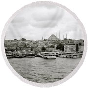 The Golden Horn Round Beach Towel