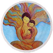 The Golden Tree Of Life Round Beach Towel