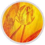 The Golden Tulip Round Beach Towel