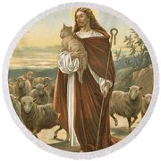 The Good Shepherd Round Beach Towel by John Lawson