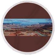 Dead Horse Point, Moab Utah Round Beach Towel