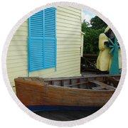 The Gordons Fisherman House Round Beach Towel