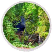 The Gorge In The Wood Round Beach Towel