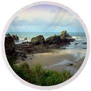 The Gorgeous Northwest Pacific Coastline Round Beach Towel