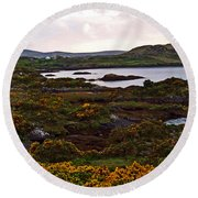 The Gorse It Was Abloomin Round Beach Towel