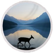 The Grace Of Wild Things Round Beach Towel