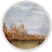 The Grand Canal - Venice Round Beach Towel