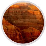 The Grand Canyon West Rim Round Beach Towel