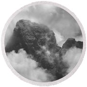 The Grand From Paintbrush Divide Round Beach Towel