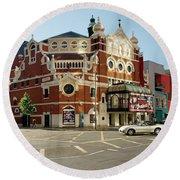 The Grand Opera House On Great Victoria Street, Belfast Round Beach Towel