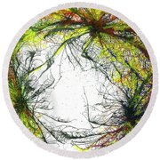 The Grand Symphony Of The Universe #635 Round Beach Towel