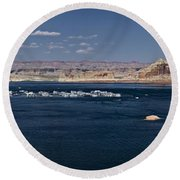 The Grand View Of Wahweap Bay Round Beach Towel